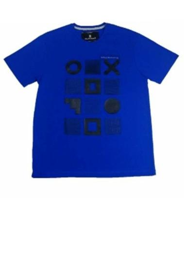 Camiseta T-shirt O Azul Royal Claro - M.pollo