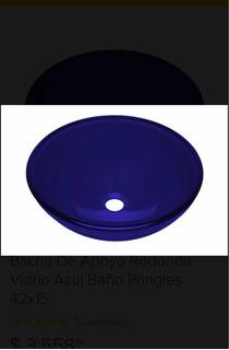 Bacha Vidrio Azul Marca Daccord 42cm