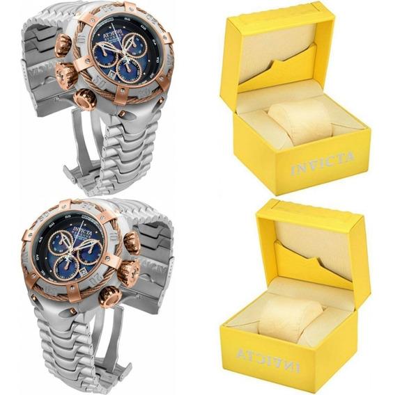 Relógio Invicta Bolt 21342 - Ouro Rosê 18k Prata Até 100 Mts