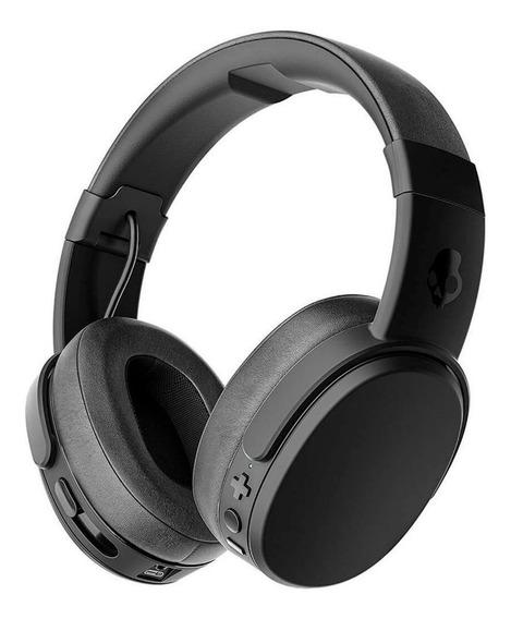 Fone de ouvido sem fio Skullcandy Crusher Wireless black e coral