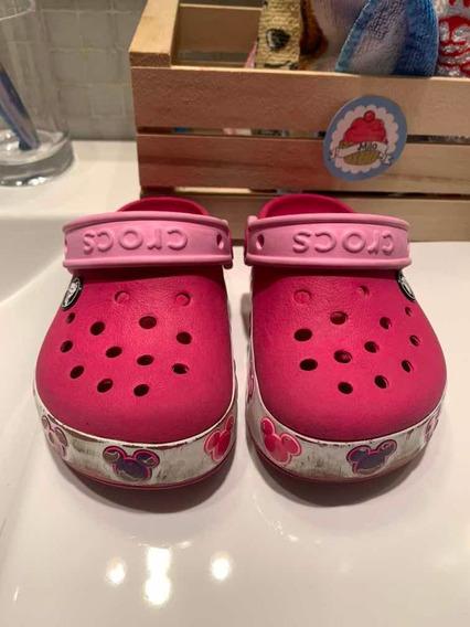 Crocs Rosas Nena Minie Talle C9 Usadas