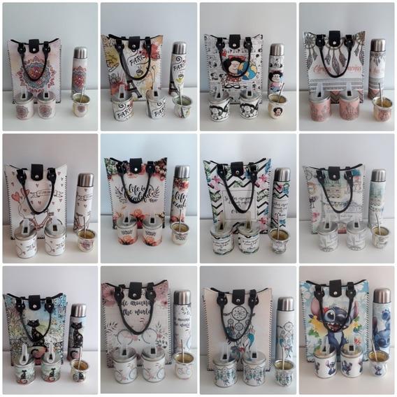 Set Matero Completo Bolso,termo,latas,mate Varios Diseños