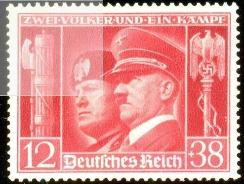 Alemanha Reich 1941 Hitler E Mussolini Veja + Selos