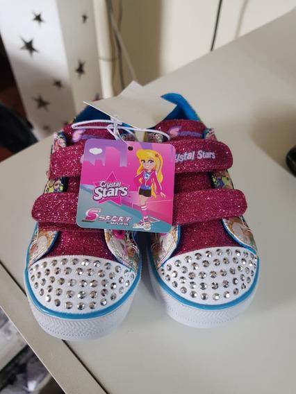 Tênis Feminino Infantil Skechers C/ Luz Led