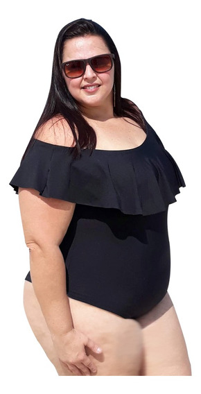 Body Maiô Plus Size Gg Lançamento 46 Ao 52 Bori Ciganinha