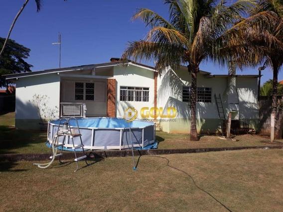 Chácara Com 2 Dormitórios À Venda, 1000 M² Por R$ 600.000 - Parque Da Represa - Paulínia/sp - Ch0057