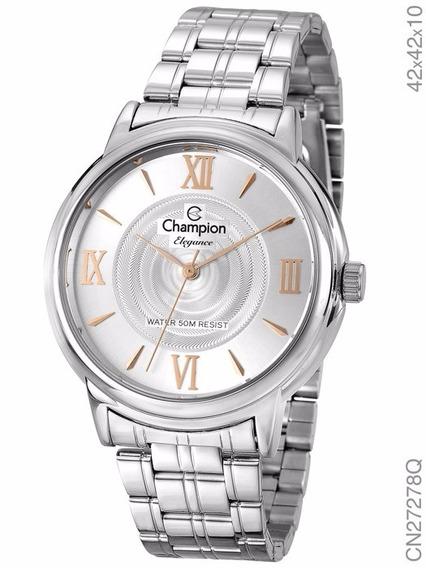 Relógio Champion Feminino Prateado Cn27278q Original C/ Nf