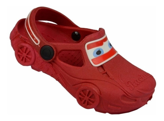 Sapato Babuche Infantil Yuupiii Carro Vermelho