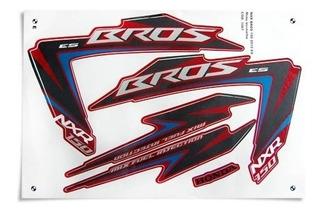 Kit Jogo Adesivo Honda Nxr150 Es Bros 2012 Vermelho