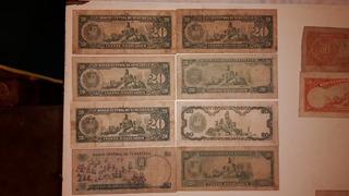 1 Combo De Billetes Antiguos De Bs 20 Venezolanos Coleccion