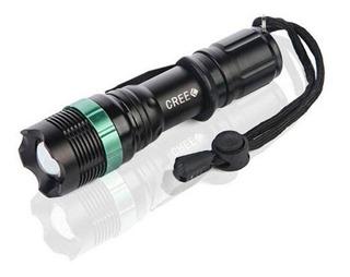 Lanterna Police Q5 Led 25000 Lúmens Carregador Bateria - Nf