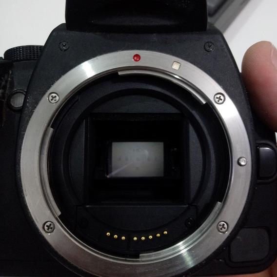 Câmera Canon Eos 350d Sucata Funcionante Baterias Cartão Cf