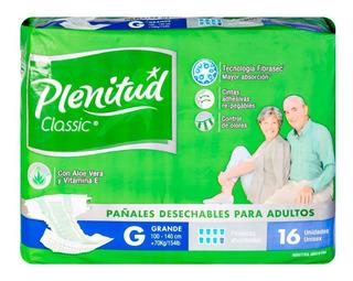 Pañales Adulto Plenitud Class G 100 X16 U.