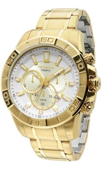 Relógio Technos Js25an/4b - Cronógrafo Dourado