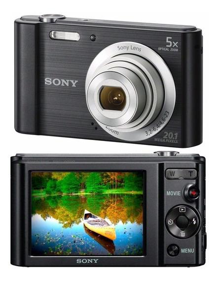Câmera Sony W800 Preta Original Envio Imediato + Brinde
