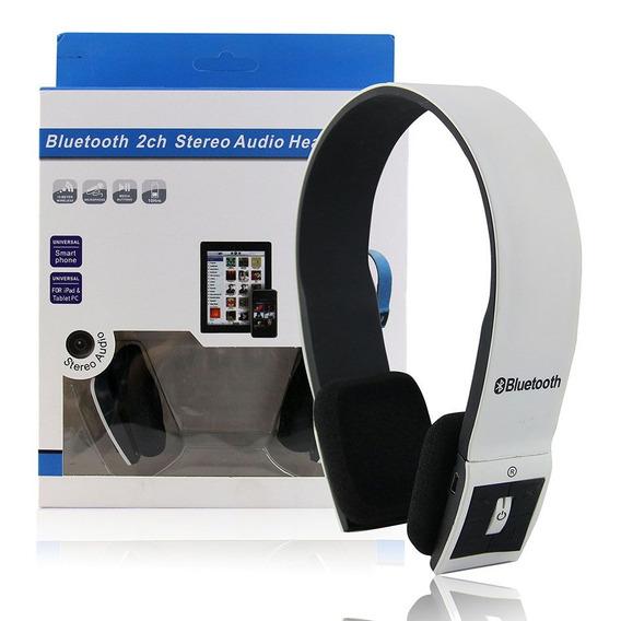 Fone De Ouvido Sem Fio Bluetooth 2ch Estéreo Headphone Branc