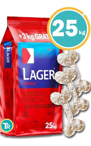 Imagen 1 de 8 de Ración Para Perro Lager Adulto 25kg+ Obsequio + Envío Gratis