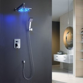 Kit Ducha Istambul Led - Ducha+misturador+suporte+ducha Mão