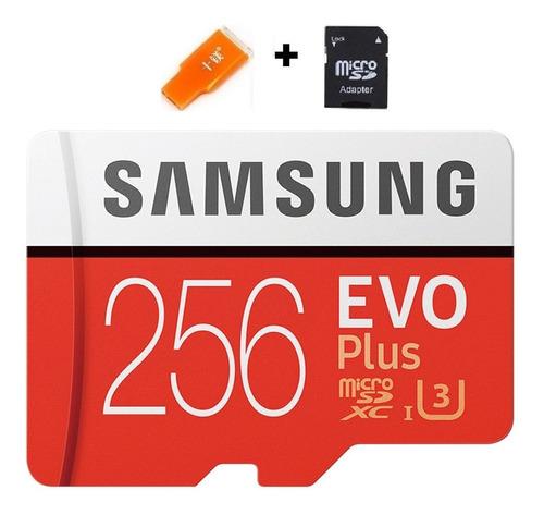 Cartao Samsung Micro Sdxc Evo 4k 256gb Plus Insigh Lacrado 6