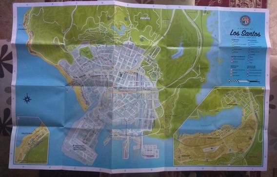 Mapa Gta V Los Santos Original Ps3 Ps4 Xbox