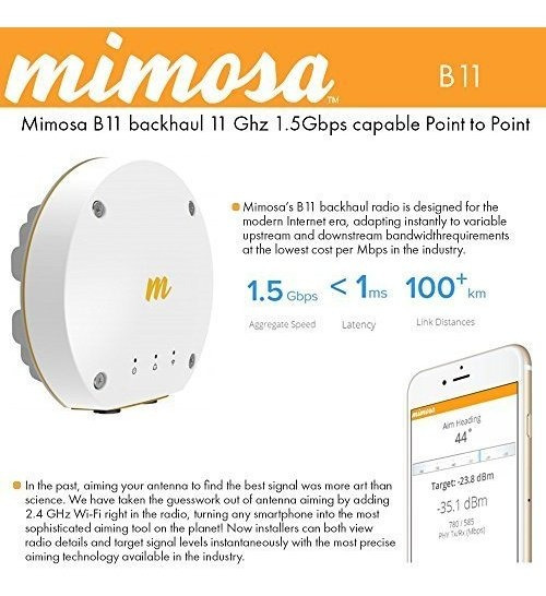 Access Point Mimosa B11 11 Ghz 1.5gbps Capable Ptp Backhaul®