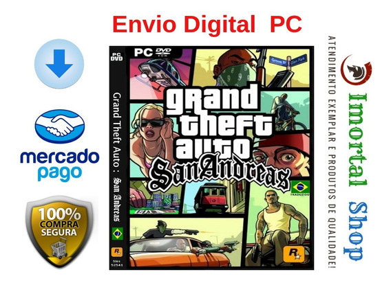 Gta San Andreas Ptbr Envio Digital Pc