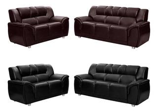 Juego De Living Sillon Sofa 3+2 Cuerpos Cordoba Marrón