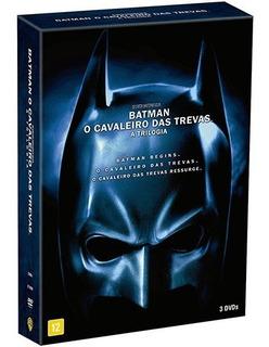 Batman Trilogia O Cavaleiro Das Trevas - Box 3 Dvds Lacrado