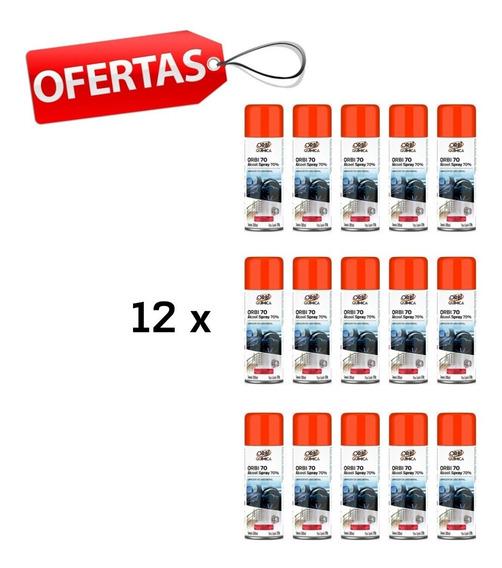 12 X Álcool 70% Spray Orbi Antisséptico Certificado Anvisa