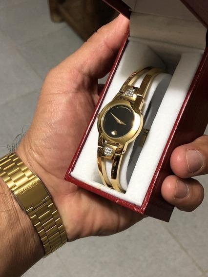 Reloj Movado Para Dama Gold. Nuevo, Sin Uso.