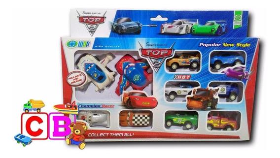 Kit Com 10 Carrinhos Cars Carros Disney Mate Mcqueen Fricção