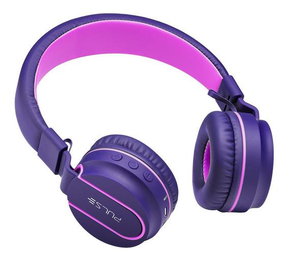 Fone De Ouvido Earphone Bluetooth C/ Entrada P2 Rosa E Roxo - Ph217