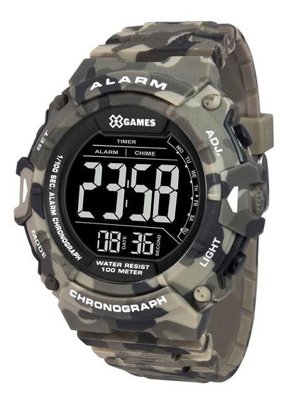Relógio X-games Masculino Digital Camuflado Xmppd488 Pxep