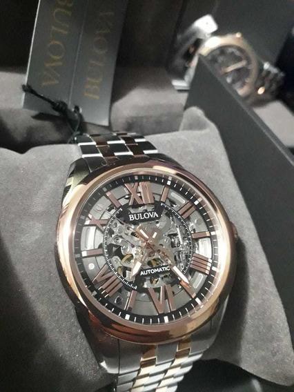 Relógio Bulova Automático Wb31998s 98a166 Esquelet