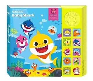 Libro Interactivo Con Sonido Oficial Baby Shark 10 Canciones