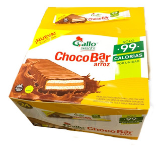 Chocobar Gallo X24un -99cal Sin Tacc- Barata La Golosineria