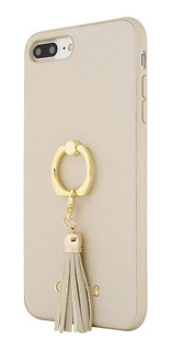 Protector iPhone 7/8, 7/8 Plus,xr, X, Xs Max Guess Case Ring Stand Gold
