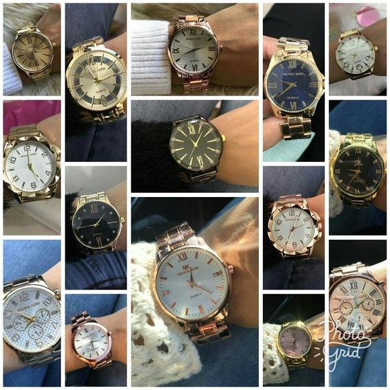Kit Com 10 Relógios Feminino+caixa + Atacado P/ Revender Top