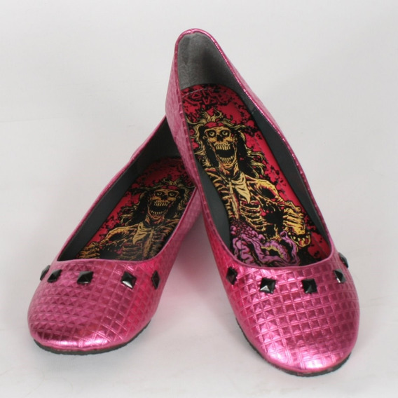 Flats Iron Fist Rosa Number Beast 3mx Demonia Punk Tuk Goth