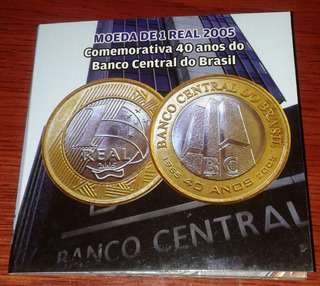 Arremate Blister Cartela 2005 1 Real 40 Anos Banco Central