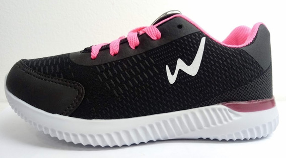 Zapatillas Niña Cordones 28 Al 34 Wake Sneackers