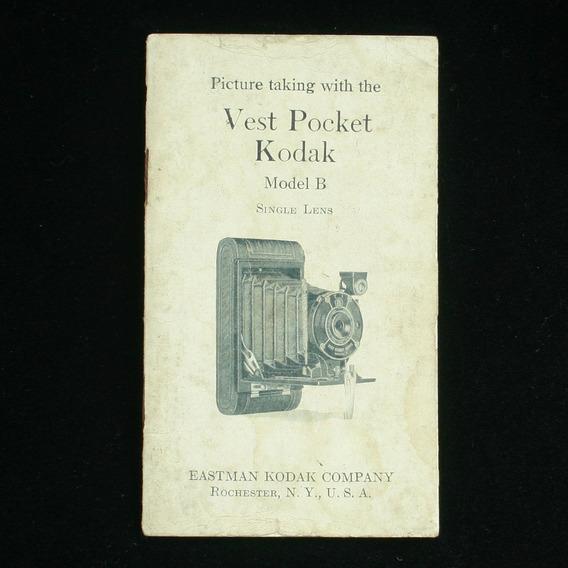 Manual De Bolso Da Câmera Kodak Model B - Em Inglês