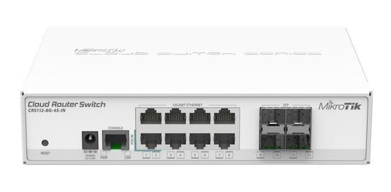 Mikrotik Switch Crs112-8g-4s-in 8 Gigabit 4 Sfp