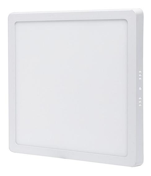 Plafon 25w Sobrepor Quadrado Painel Branco Frio Led Bivolt
