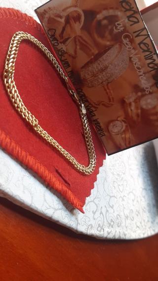 Pulseira Lacraia Ouro 18k Com Certificado De Autenticidade