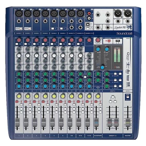 Mesa De Som Mixer Soundcraft Signature 12 Pronta Entrega