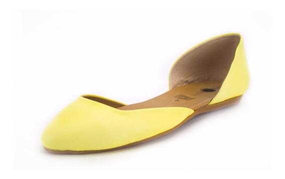 Zapato Flat De Dama En Negro, Mandarina, Amarillo