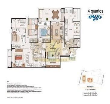 Imagem 1 de 10 de Apartamento 4 Quartos 2 Vagas Santa Rosa - 4024