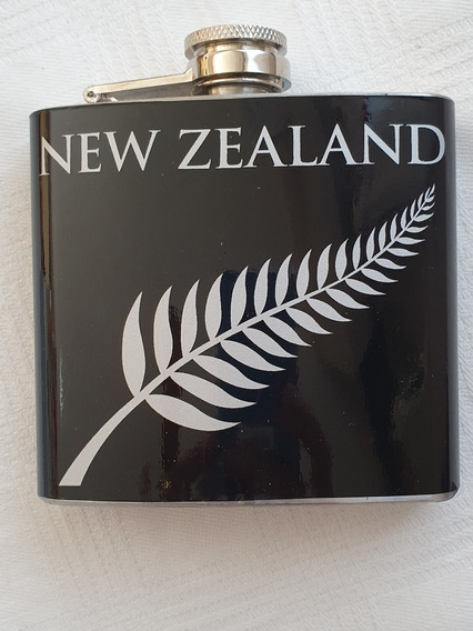 Petaca De Acero Inoxidable, Tapa A Rosca New Zealand