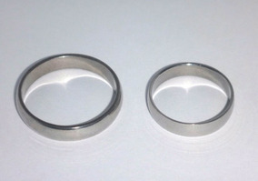 Par Aliança Anel Aço Inox Cirúrgico Namoro Compromisso Prata